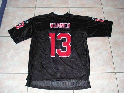 NFL 紅雀隊 ACE #13 KURT WARNER SUPER BOWL JERSEY SIZE:L