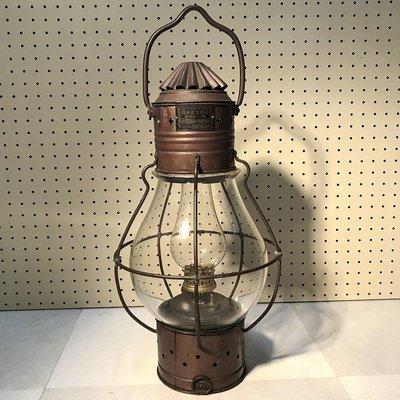 1937年日本製(有證明文件) 大型銅製 古董船用油燈~早期拆船煤油燈~古早油燈