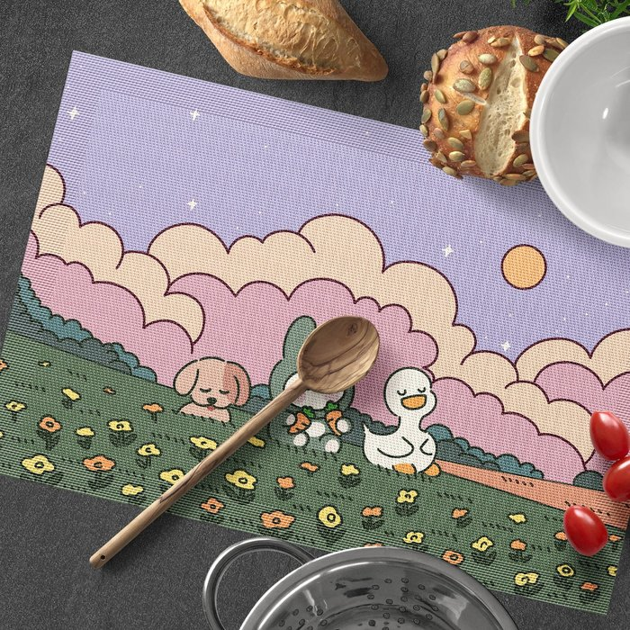 ins卡通 隔熱墊 PVC餐桌 防燙墊歐式防水餐盤墊西餐墊杯墊定制