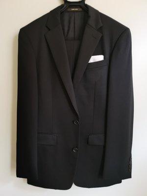 日本COMME CA MEN 純黑色 西裝(外套+褲子)