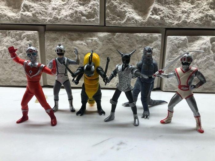 Yujin 特攝英雄系列 SR 銀色假面昭和 絕版 一套