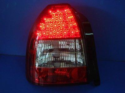 小亞車燈╠ 全新 喜美 K8 3門 紅白 晶鑽 黑框 LED 尾燈 3500