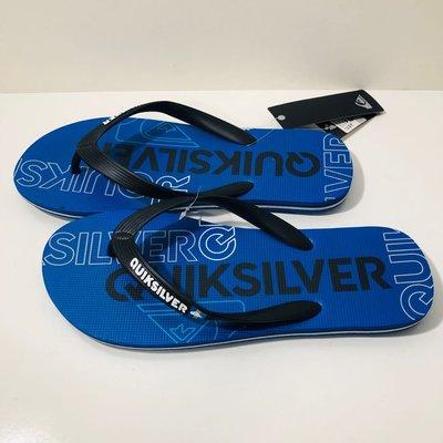 《現貨》Man's QUIKSILVER 男生款 澳洲海灘拖鞋 US8,US9,US10 MOLOKAI HOLD DOWN 簡捷LOGO 圖騰夾腳拖