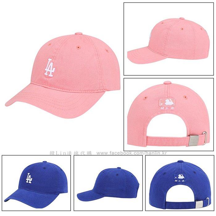 兒童款特價【韓Lin代購】韓國 MLB - 小LA刺繡粉紅色/藍色棒球帽 72CP77911