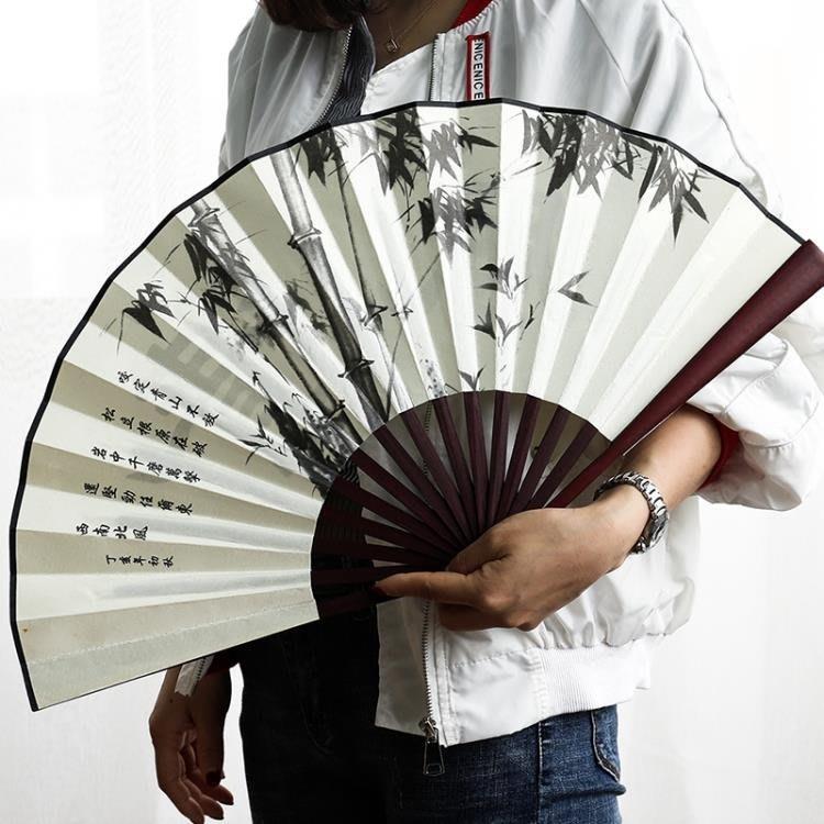 全館免運-可開發票 扇子 折扇中國風絹扇折疊男扇古風禮品禮物漢服攝影扇 【MISS ANNA】