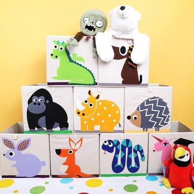 【MissCoCo】加拿大3 sprouts牛津布方形可折疊收納箱 收納箱 衣物箱玩具箱 收納籃 (無蓋)