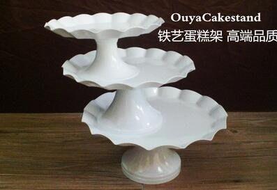 鐵藝蛋糕架婚慶蛋糕盤紙杯蛋糕托盤架高腳水果盤歐式點心架糕點盤