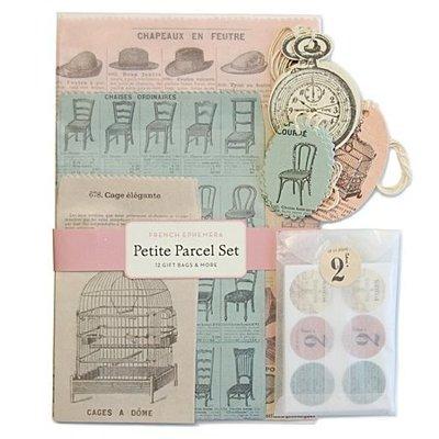 《散步生活雜貨-文具散步》日本進口 Cavallini -Petite Parcel Set  復古風 法國印象 包裝組
