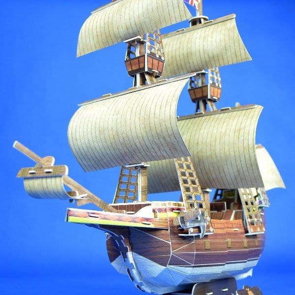 佳廷家庭 親子DIY紙模型立體勞作3D立體拼圖專賣店 船舶軍艦遊艇 五月花號古典帆船 樂立方T4009