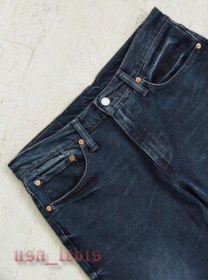 【彈性新款28-38腰】美國LEVI S 511 Slim Red Bluff 黑藍淺刷窄管丹寧褲小直筒牛仔褲510