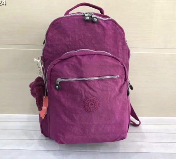Kipling 猴子包 玫紫 K13735 電腦包 旅行 登山 多用拉鍊款輕量雙肩後背包 大款 限時優惠 防水