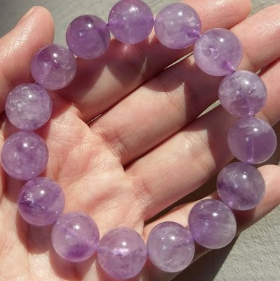 C10 冰種薰衣草手珠 天然水晶 14mm 紫水晶 大咪 紫玉水晶 紫玉薰衣草 58g