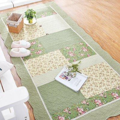 全棉純棉家用長方形韓式田園臥室地毯 家用床邊榻榻米 可機洗手洗小猪佩奇