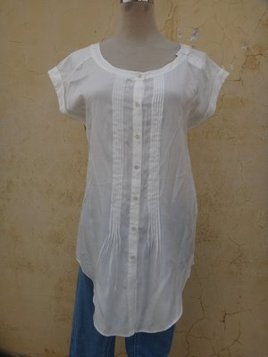 jacob00765100 ~ 正品 日本品牌 CLEAR IMPRESSION 白色長版 上衣 size: 2
