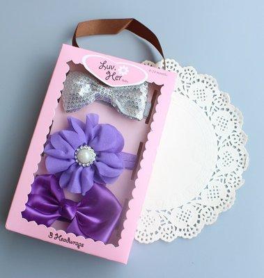 ☆草莓花園☆美國潮牌TOBY純手工髮帶 女寶寶頭飾 嬰兒頭飾 新生婴兒禮品 滿月周歲拍照髮帶禮盒 花色禮盒7 附精美外盒