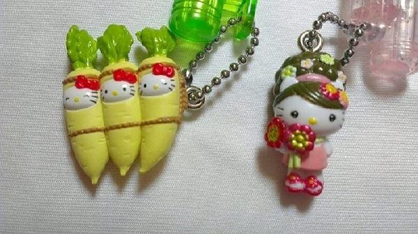 ~FUJIJO~現貨~日本限定【HELLO KITTY凱蒂貓】 日本製 可愛大根 日本花娃娃系列 原字筆2款