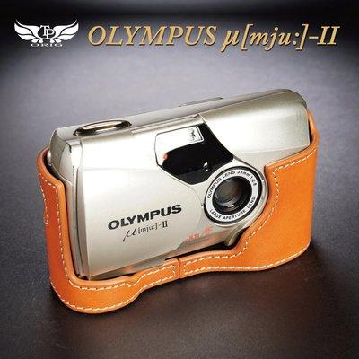 【台灣TP】適用於 Olympus U2 μ[mju:] -II  真皮底座  牛皮 相機包 皮套