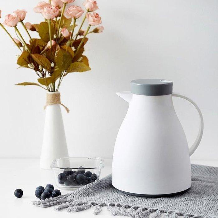 北歐式保溫壺家用按壓式玻璃內膽熱水開水瓶熱水壺暖水壺保溫水壺