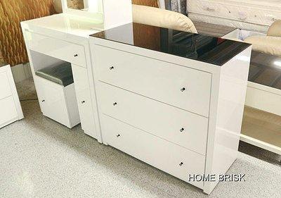 【宏興HOME BRISK】羅拉白色亮面3尺 三斗櫃 烤漆8次 安心成家專案 整套購買 另有優惠,熱