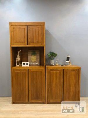 [韓珈柚木wood] 伯尼玄關柚木鞋櫃 60+81公分高櫃+低櫃 柚木置物櫃 柚木餐邊櫃  印尼柚木實木家具