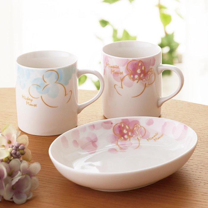 迪士尼Disney《預購》米奇米妮 花卉系列 杯盤3件組 餐具組~日本製~可微波~心心小舖