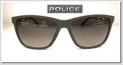 《眼鏡世家生活館》【POLICE】亞洲男神池昌旭代言 最時尚最Man的單品 529霧咖啡色矽膠運動風偏光鏡片
