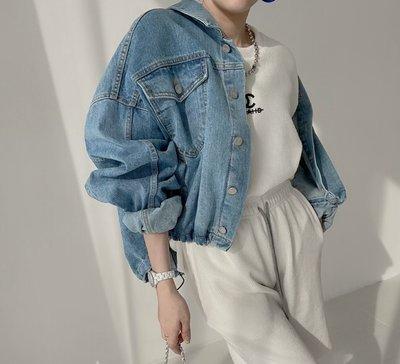 *~fuyumi boutique~*100%正韓 21S/S新款 下擺抽繩牛仔外套