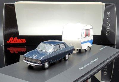 【MASH】[現貨特價]  Schuco 1/43 Opel Kadett B with Knaus Schwalben
