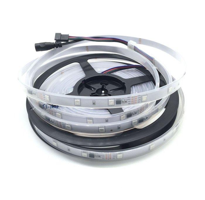 『 5050 RGB LED 套管 炫彩防水燈條 』炫彩 幻彩 閃爍 條燈 燈條 5米 150晶