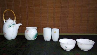 (店舖不續租清倉大拍賣)德也蝶手繪茶具一組,原價10000元特價4500元