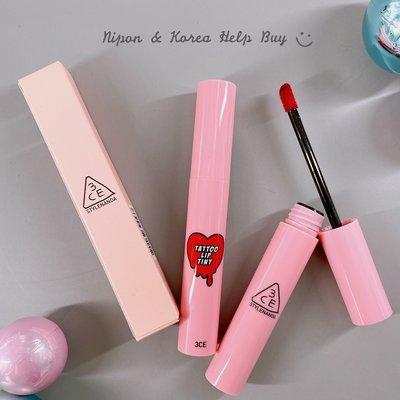 3CE 刺青染唇釉 Tattoo Lip Tint Pink 紋身 口紅 唇膏 唇蜜 唇釉 染唇液 防偽標籤 ❤現貨❤