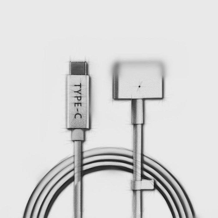 當天發貨TypeC to Macbook T頭 L頭 USB-C轉Magsafe2 PD快充線