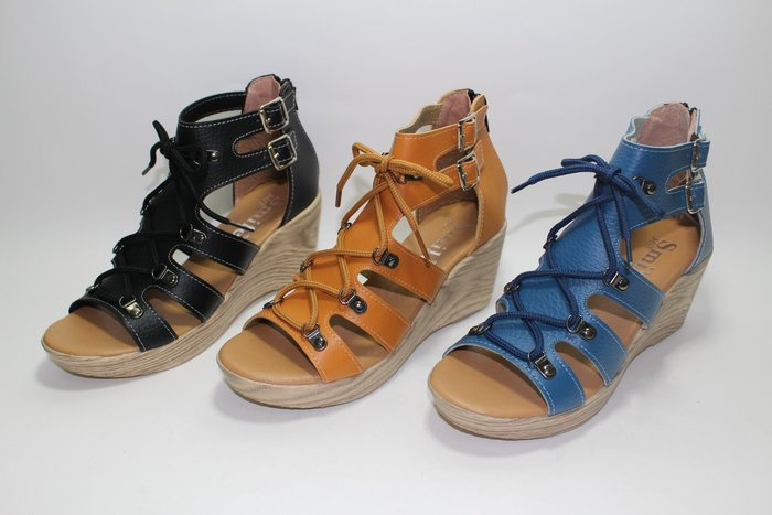 ALICE SHOES艾莉易購網 請把握!!搶鮮擁有流行亮色挷帶涼鞋羅馬鞋@680@MIT台灣製造