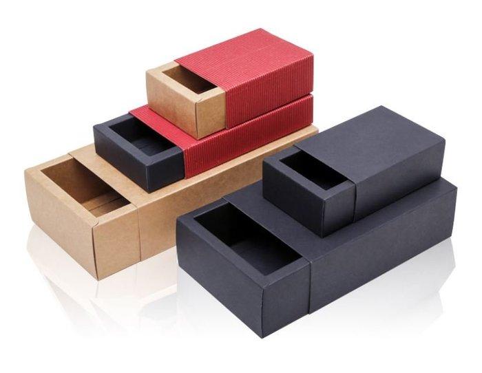 W-1 牛皮禮盒【大J襪庫】加購價只要90元-牛皮紙抽屜盒黑色禮盒-再送牛皮紙袋母親節父親節員工送襪子禮盒禮品禮物