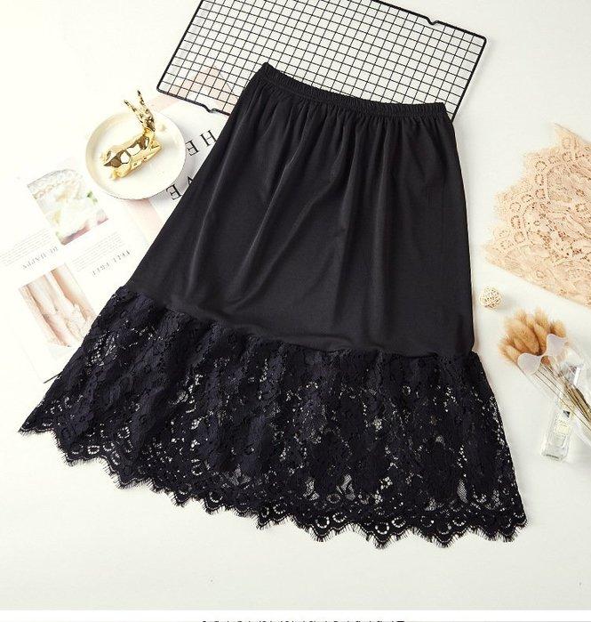 新款韓版百搭顯瘦拼接蕾絲花邊薄紗性感短裙 3色 610