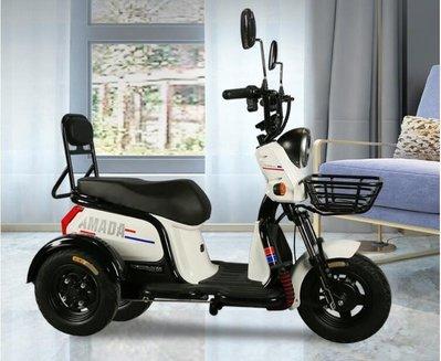 時尚女士小型家用三輪電動車成人代步接孩子三輪車不會倒翻電瓶車 YXSH