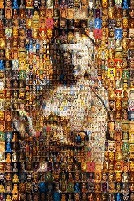 拼圖海報專賣店-拼圖: 1000-009N(1000片夜光拼圖-佛像馬賽克系列)+ 鋁框 台北市