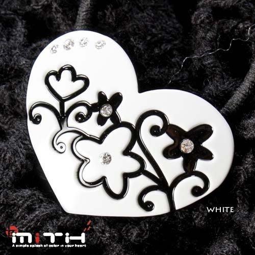 MITHX手創,自然雕花草紋,愛心,髮束,髮圈-三色