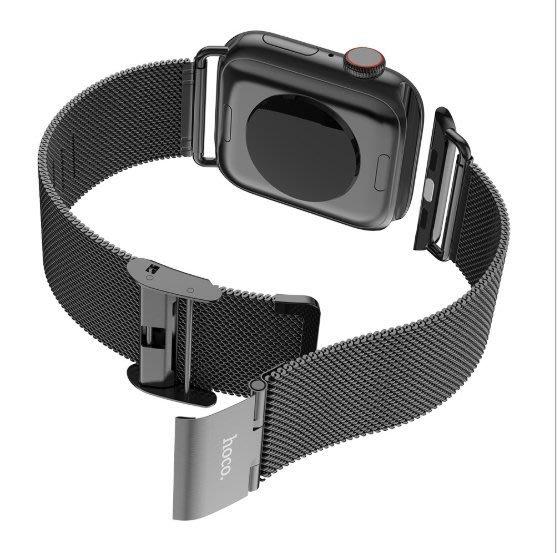 超 快速出貨 hoco 格朗鋼錶帶 iWatch4  金屬鋼帶 適用蘋果 3/4/5代 細鋼環錶帶 38mm 40mm