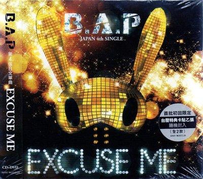 B.A.P // EXCUSE ME ~ CD+DVD、首批限定初回盤 -華納唱片、2014年發行