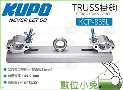 數位小兔【KUPO KCP-835L TRUSS掛鉤】重型單眼吊環 管徑48-51mm 桁架 管夾 桿夾 快扣掛勾 滑槽