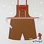 **party.at** 聖誕薑餅人 (女孩款) 兒童圍裙 2-8Y 萬聖節服裝 生日派對 迪士尼 聖誕樹 聖誕老人服裝