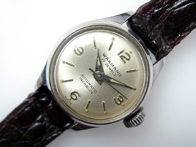 【timekeeper】 70年代瑞士製Wakmann(Breitling)威克曼17石不鏽鋼自動女錶(免運)