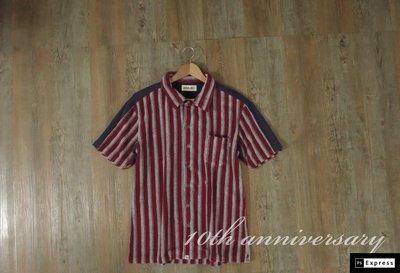 日本帶回 Unavailable 毛巾質 條紋襯衫 日本製 k72 夏 降