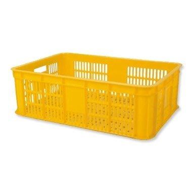 哈哈商城 台灣製 三格 搬運箱 (1030)  ~ 籃子 水果 農具 蔬菜 生鮮 冷凍 海鮮 工廠 貨運 物流 周轉箱