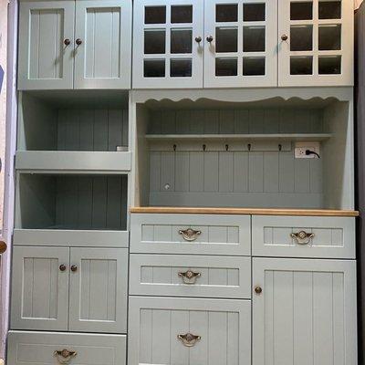 戀戀小木屋 電器櫃和餐櫃組 客製款 綠色款 餐櫃