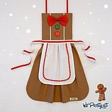 **party.at** 聖誕薑餅人 (女孩款) 兒童圍裙 2-8Y 聖誕節服裝 生日派對 迪士尼 聖誕樹 聖誕老人服裝