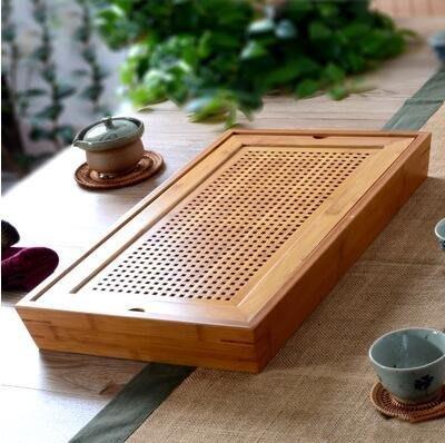 【優上】竹製茶盤儲水式幹泡茶海茶托盤蓄水簡易小號茶臺