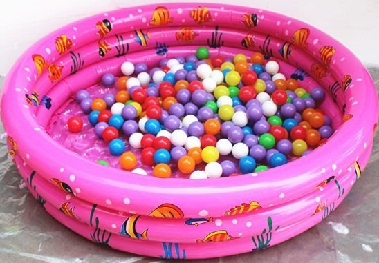 三環加厚氣泡泳池 /球池/遊戲池~浴池 ~戲水池~3色可選~◎童心玩具1館◎