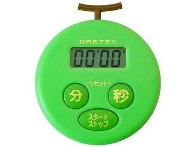 一鑫餐具~ DRETEC多利科 哈密瓜計時器T~168GN~電子計時器非TANITA